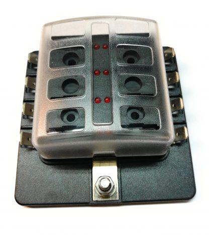 caja de fusibles con led