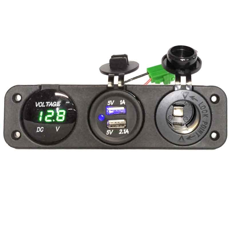 panel voltímetro