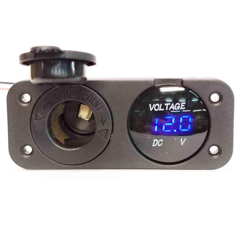 panel voltimetro + cargador 12v.