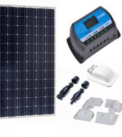 Kit Solar 120W Monocristalino con regulador PWM 20A