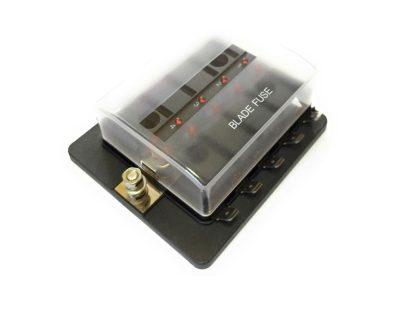caja de 10 fusibles con led