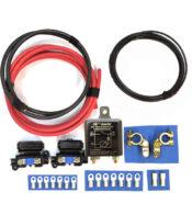 kit básico instalación batería auxiliar con relé automático